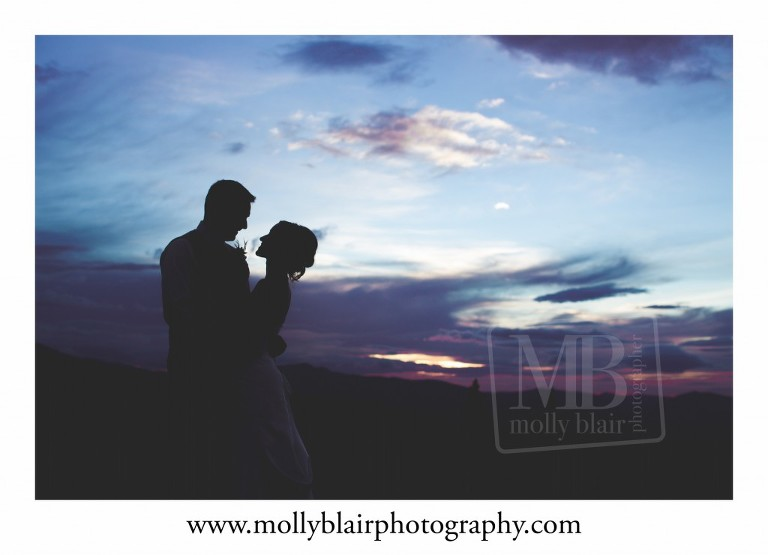 Sunset WEdding Images Grand County